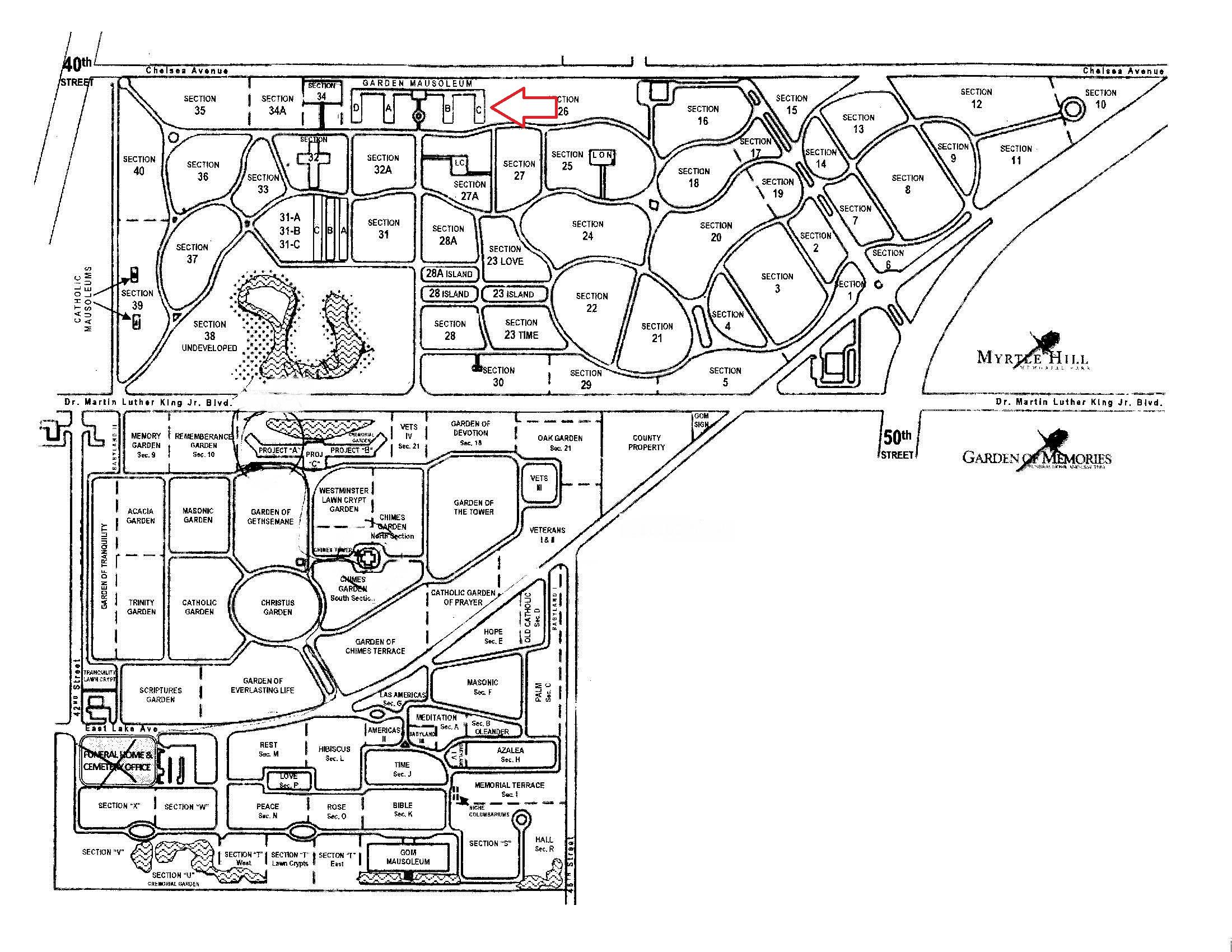 Myrtle Hill Cemetery FANNIES YOUR AUNT - Florida map plant city